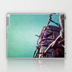 Barbed Wire Blue Laptop & iPad Skin