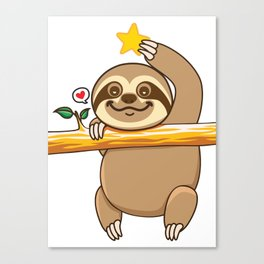 Sloth Star Canvas Print