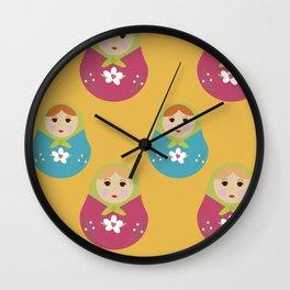 Matrioska Wall Clock