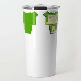 Cute Cartoon Blockimals Crocodile Travel Mug