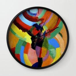 Robe Simultanee (Female Figure) by Robert Delaunay Wall Clock