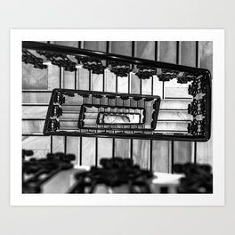Stairs to even Art Print