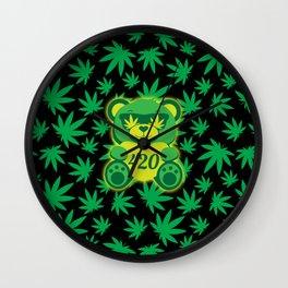 420 Teddy Bear Wall Clock