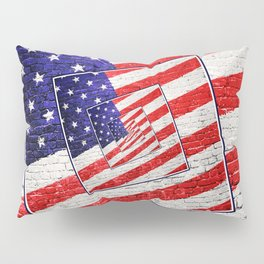Patriotic American Flag Abstract Pillow Sham