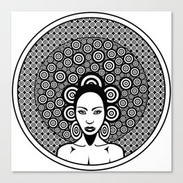 Sixties woman black and white Canvas Print