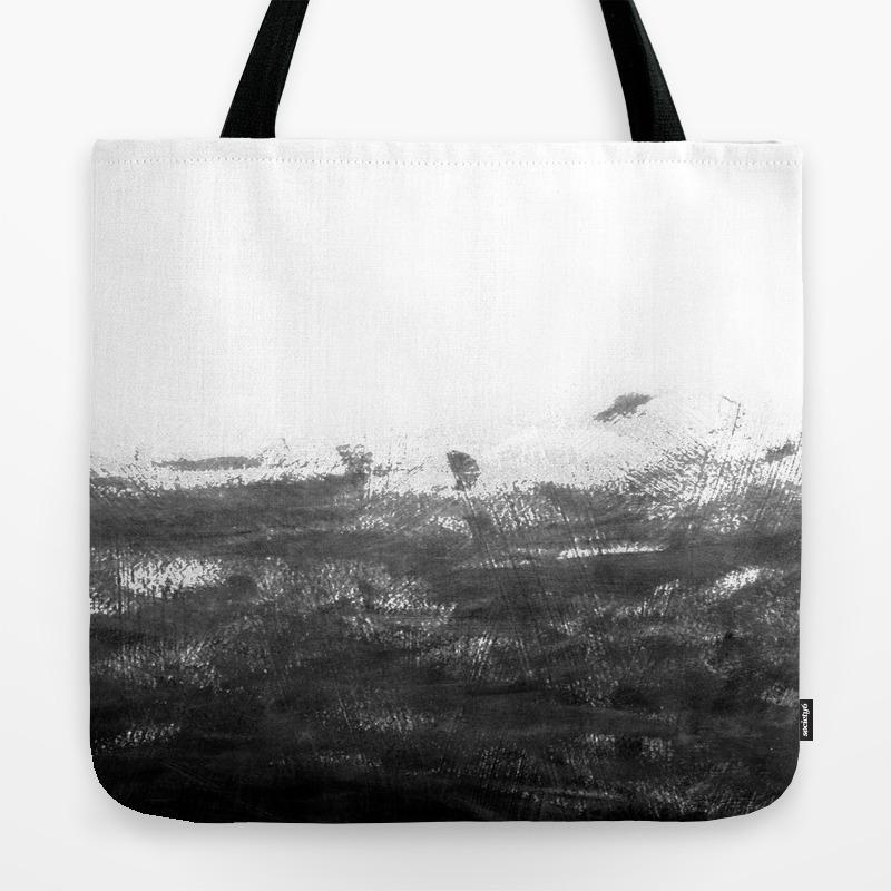 Canvas Tote Bag Art Deco Monochrome