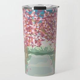 Cherry Blossoms in Battersea Park, London Travel Mug