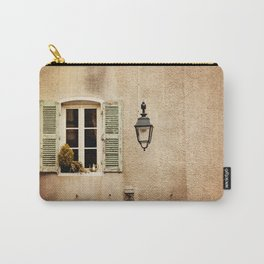 Window with Shutters and Teapot Carry-All Pouch