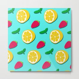Fruit Party #society6 #decor #buyart Metal Print