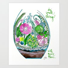 Small Things Terrarium Art Print