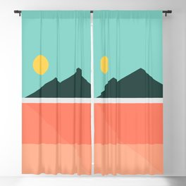 Geometric Landscape 16 Blackout Curtain