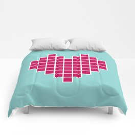 Pixelated Heart Comforters
