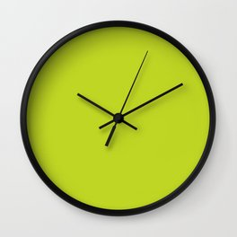 Lime Punch - Fashion Color Trend Spring/Summer 2018 Wall Clock