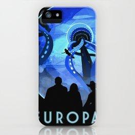 Europa Space Travel Retro Art iPhone Case