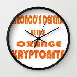 BRONCOS D Wall Clock