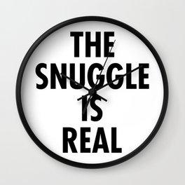 The Snuggle Is Real - Futura Wall Clock