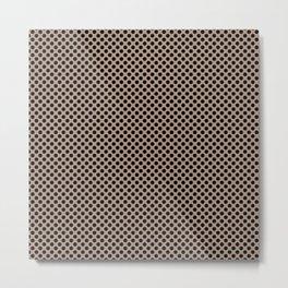 Warm Taupe and Black Polka Dots Metal Print