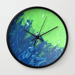 Blue & Green, No. 1 Wall Clock