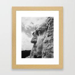 Mt. Rushmore Under Construction - Washington Sculpture Framed Art Print