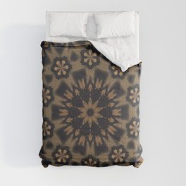 September Wildflowers // Gypsy Hippy Boho Bohemian Abstract Flower Circular Mandala Geometric Earthy Comforters