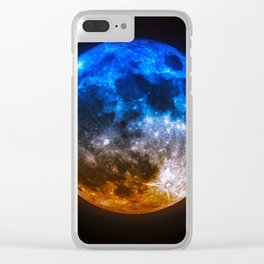 Magical Full Moon Clear iPhone Case