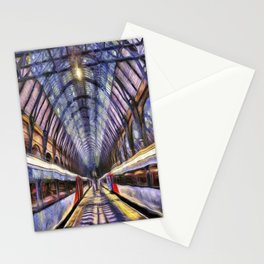 Kings Cross Rail Station van gogh Stationery Cards