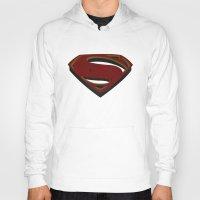 man of steel Hoodies featuring Superman - Man of Steel by ochre7