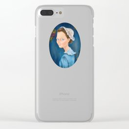 Girl with a White Bonnet Clear iPhone Case