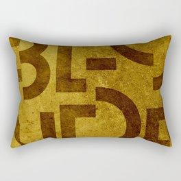 Blonde Beer Typography Rectangular Pillow