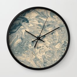 Baesic Monochromatic Paint Pour (Pale Blue) Wall Clock