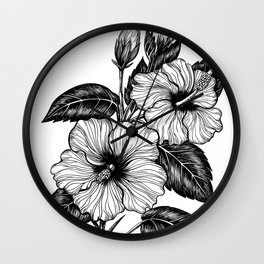 Hibiscus flower Wall Clock
