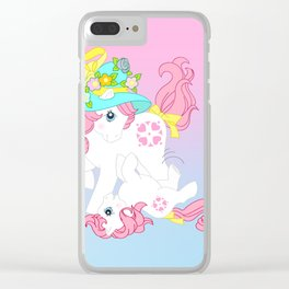 g1 my little pony Sundance and baby Clear iPhone Case