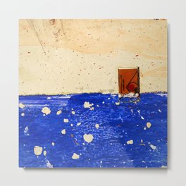A Sinking Ship Forgets Her Shape Metal Print