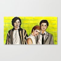 the perks of being a wallflower Canvas Prints featuring The Perks of Being a Wallflower by Elena Olshin