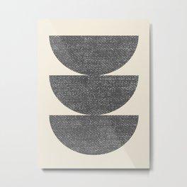 Half Circle 3 - Grey Metal Print
