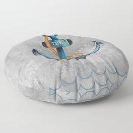 Maritime Design- Nautic Anchor Navy Marine Beach Floor Pillow