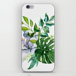 Flower and Leaves iPhone Skin