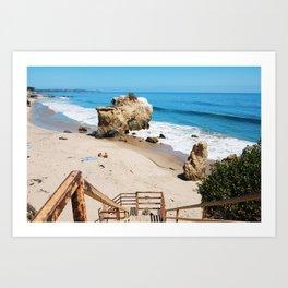 El Matador State Beach Stairs Art Print