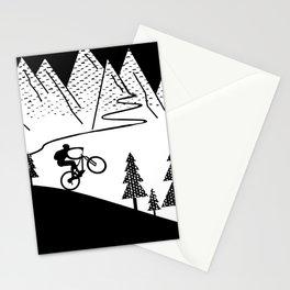 MTB Mountain Bike Downhill Cycling Stationery Cards