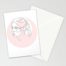 Princess Organa - single line art Stationery Cards