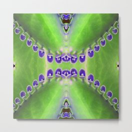 Green and Purple Abstract Metal Print
