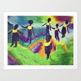 Ghana Dancers Art Print