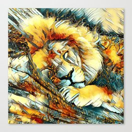AnimalArt_Lion_20170604_by_JAMColorsSpecial Canvas Print