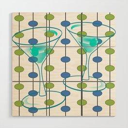 Mid-Century Modern Atomic Art Cocktails 1.0 Wood Wall Art