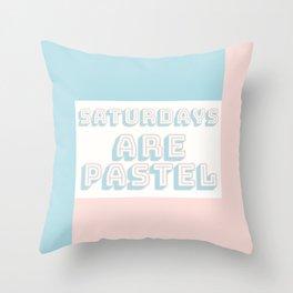Saturdays Are Pastel Throw Pillow