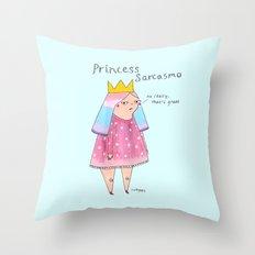 princess sarcasmo Throw Pillow