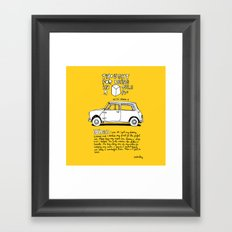 Mini Copper Classic. Thought for being in a box 152 ft³. Framed Art Print