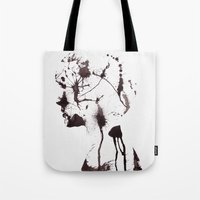 chaos Tote Bags featuring Chaos by Andreas Lie