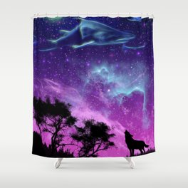 Shark Galaxy Shower Curtain