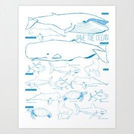 safe the ocean Art Print